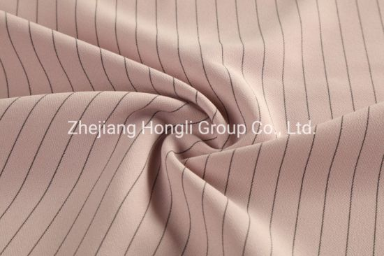 Double Layer Polyester Striped Fabric