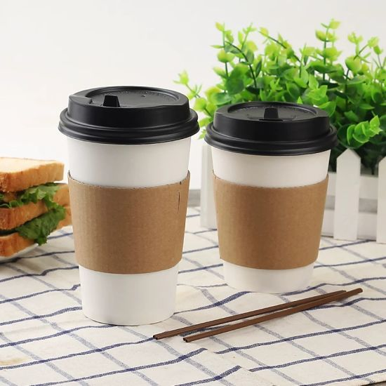 China High Quality White Disposable Coffee Cups Cold Hot Drink Tea Takeaway Packaging Paper Cup With Lid China High Quality White Disposable Coffee Cups Cold Hot Drink Tea Paper Cup