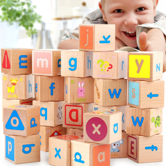 Wooden Baby Educational ABC Alphabet Letter Combination Learning Building Blocks pictures & photos
