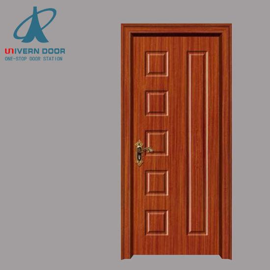 China Laminated Interior Panel Flush Bathroom Pvc Veneer Main Doors