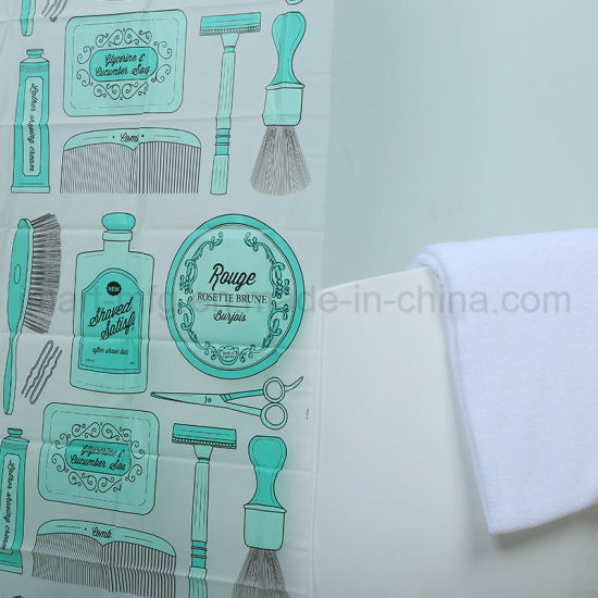 Custom New Design EVA Bathroom/Bath Shower Curtain for Wholesale pictures & photos