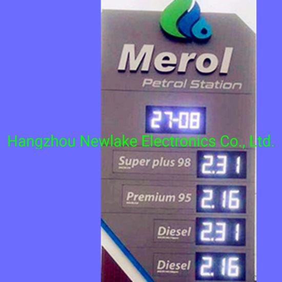 Outdoor 8inch LED Digital Petrol Price Displays 8.88 (CREE brand LEDs)