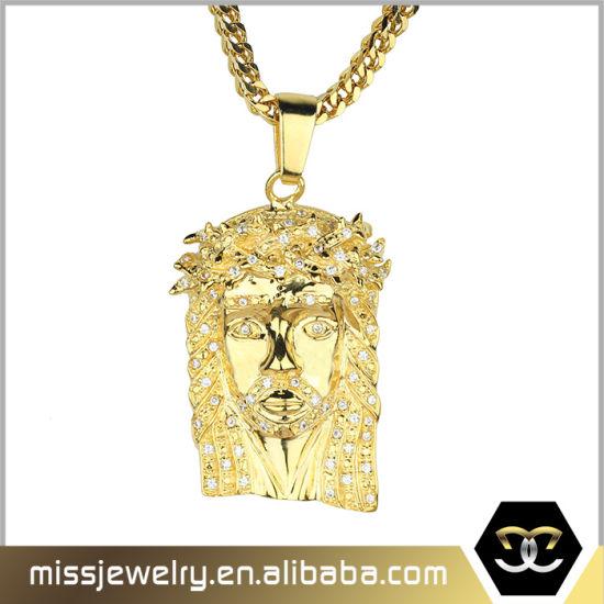 Dubai Gold Hip Hop Jesus Pendant Necklace Designs Men Mjhp082 China Hip Hop Necklace And Hip Hop Gold Necklace Price Made In China Com