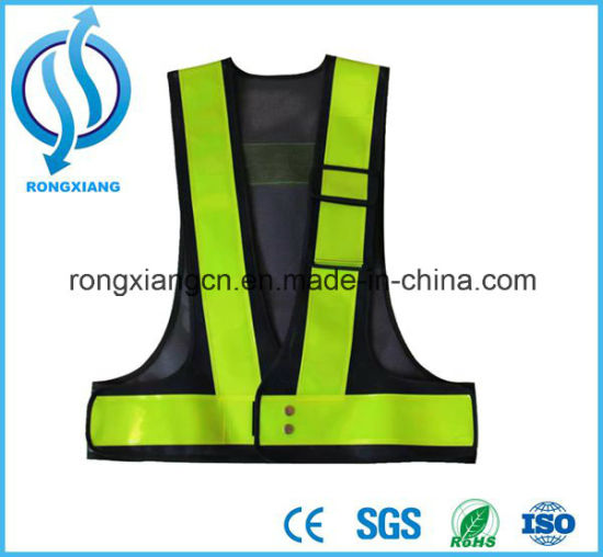 High Quality Reflective Flashing LED Road Safety Vest pictures & photos