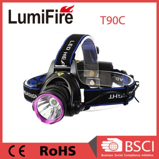 2X 18650 Rechargeable CREE Xm-L T6 LED Headlamp