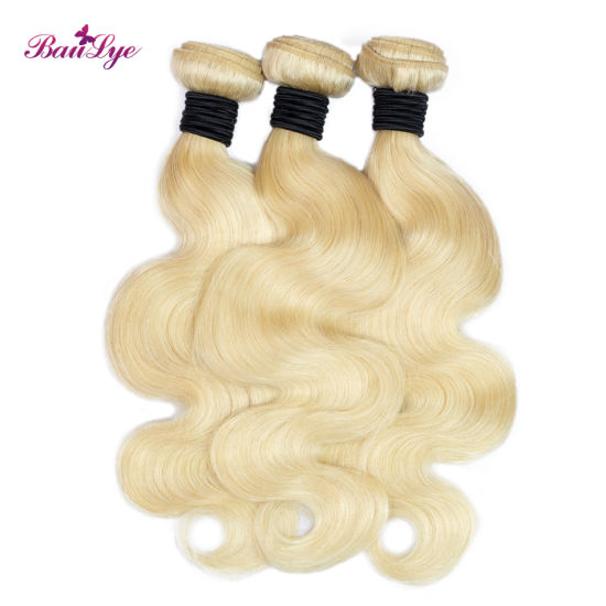 Grade 10A Body Brazilian Virgin Hair Weave Bundles Wholesale Blond Remy Human Hair Extensions