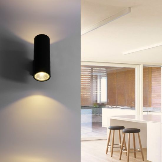 China LED Wall Lamp Cylinder COB 20W LED Wall Light IP65