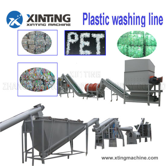 Pet Bottle Crushing Washing Drying Recycling Line with Steam Washer