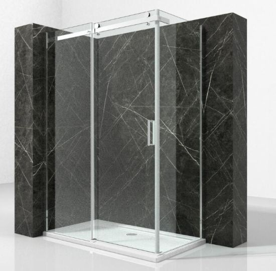 Chinese Bathroom Chromed Aluminum Shower Cabin Online For Sale