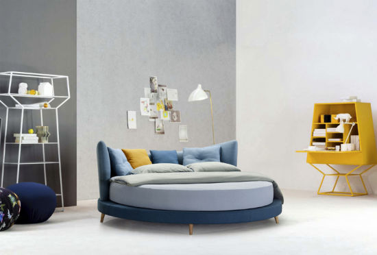 New Fashion Round Fabric Bed of 2018 (HC-E857) pictures & photos