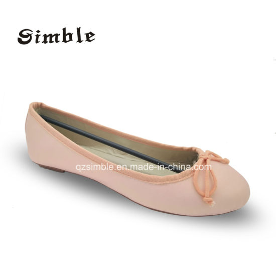 Ladies Soft Flat Casual Ballerina Shoes with PU Upper