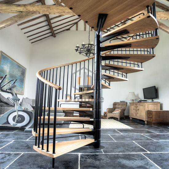 Small Space Stair Design Spiral Staircase Iron