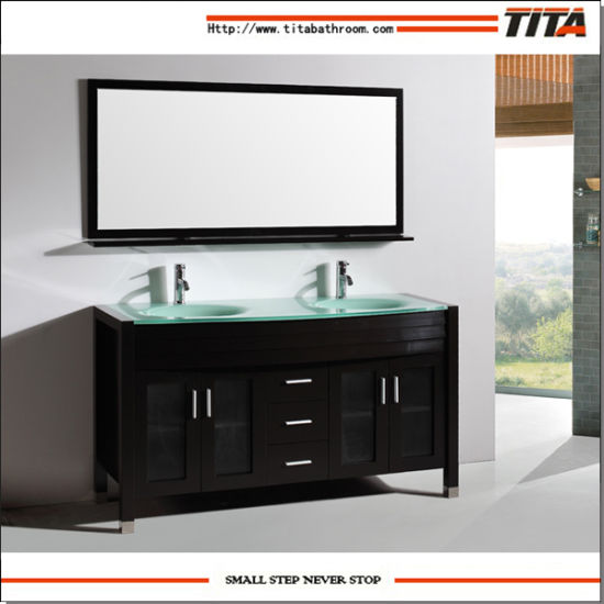 China American Style 72 Inch Double Sink Bathroom Vanity Furniture