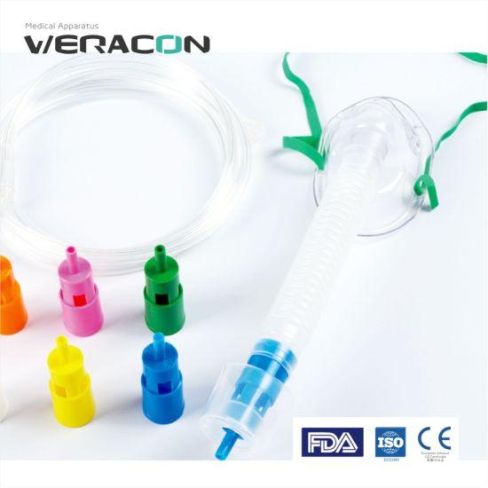 Disposable Adjustable S M L Size Medical Venturi Oxygen Mask
