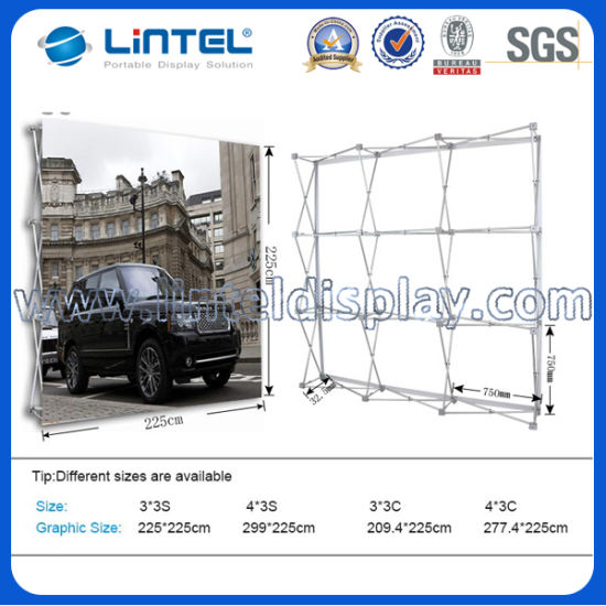China Trade Show Folding Pop Up Backdrop Banner Stand China Pop Up - Portable car show display stand
