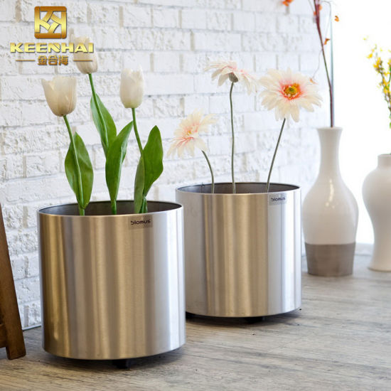 China Stainless Steel Half Round Planter Flower Pots China Garden