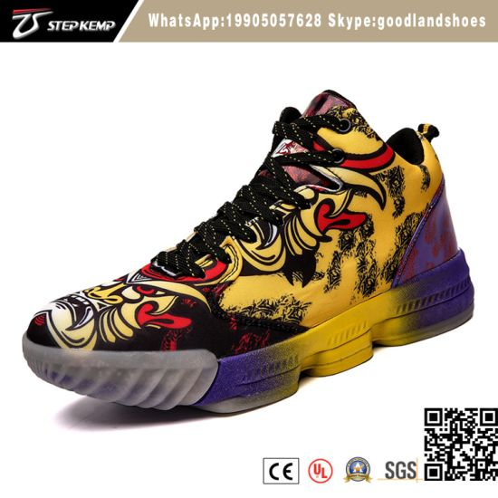 Hot Selling Classical Basketball Shoes High Cut Colorful Wear-Resistant Slip Basketball Sport Shoes Men 6062