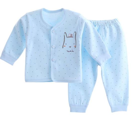 100% Cotton Newborn Baby Underwear Set Long Sleeve Trousers Wear pictures & photos