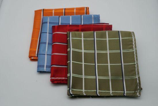 Men's Fashion Yarn Dyed Check Design Pocket Square