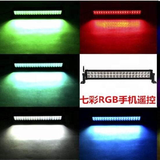 RGB LED Light Bar LED Barras Spot-Flood Combo Waterproof Light Bar LED Work Driving Lights Fog Lamp off Road Pickups 4*4