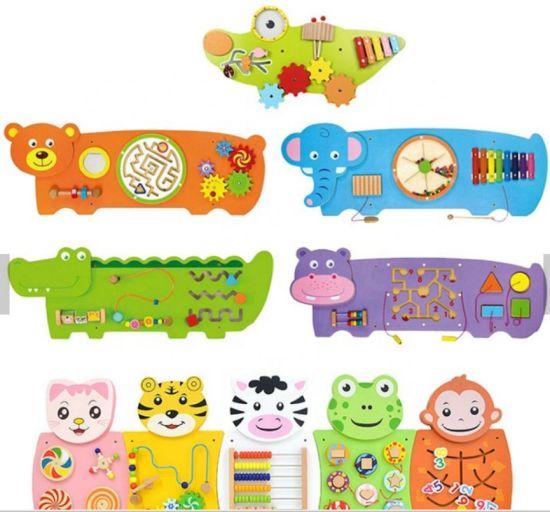 Wood Animal Montessori Wall Panel Toy