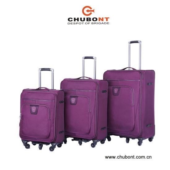 Chubont Luggage Factory for Tsa Lock Double Zipper Soft Luggage