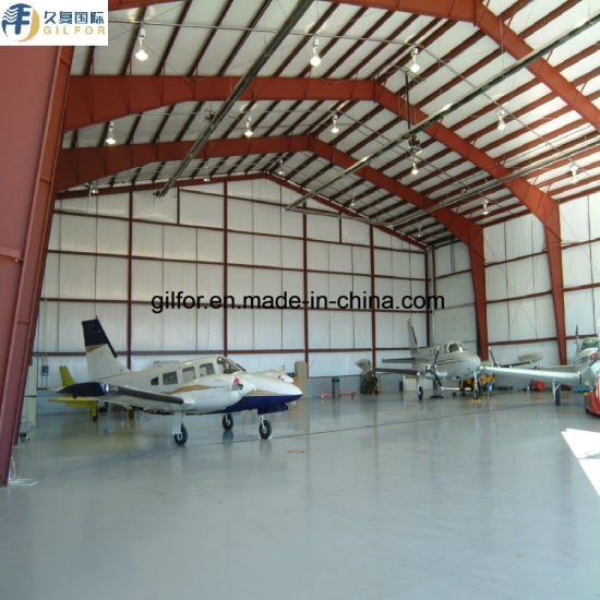 Hot Galvanized Zinc-Rich Epoxy Painting Steel Building for Airplane Hangar