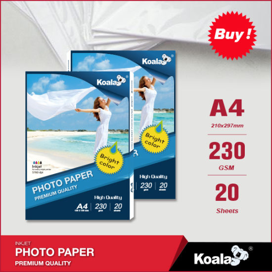 Factory Manufacture 115g- 260g Waterproof High Glossy Inkjet Photo Paper pictures & photos