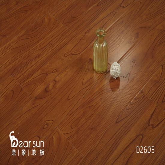 China Walnut Oak Color Wooden Hdf 8mm, Walnut Oak Laminate Flooring