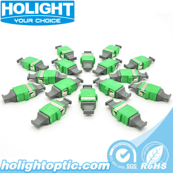Sm Push on Fiber Optic MPO/APC Adapter Without Flange