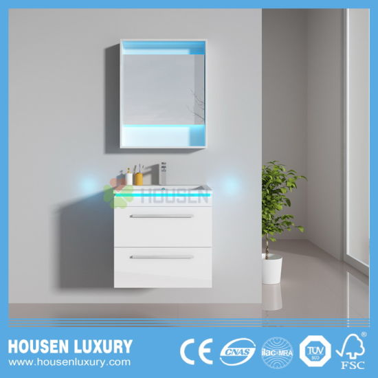 Eurpean Bathroom Vanity with Blue LED Light HS-M1111-600