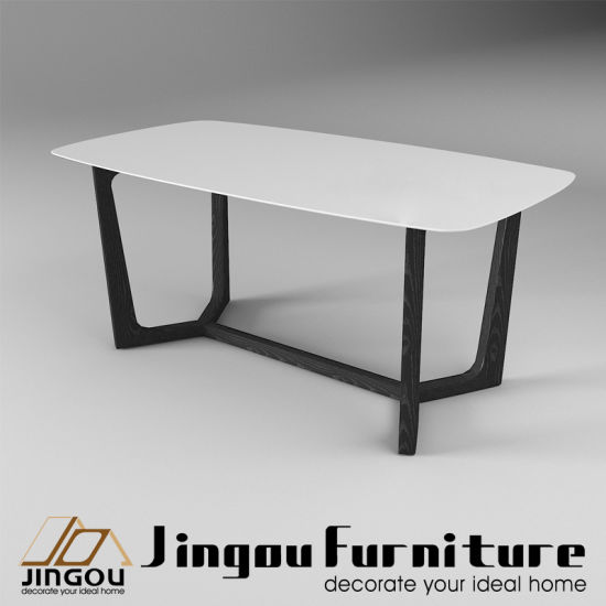Hot Item Modern Wood Restaurant Furniture Stone Top Dining Table For Home