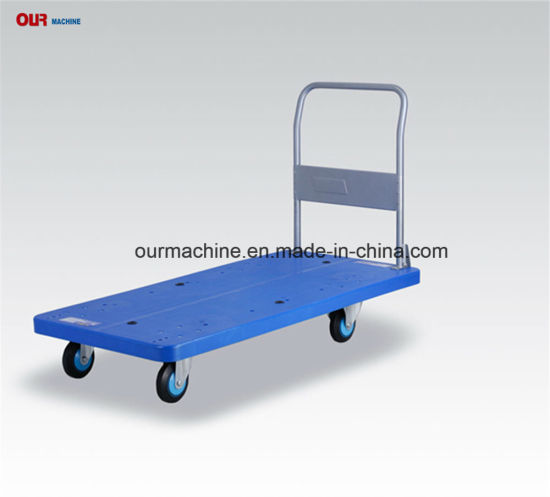 PLA150y Folding Uni-Silent Low Noise Platform Warehouse Trolley with Pluggable Handle