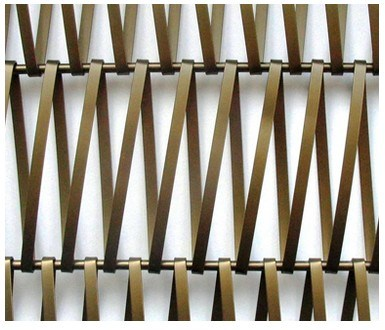 Decorative Wire Mesh Colored Aluminum Stainless Steel Bronze