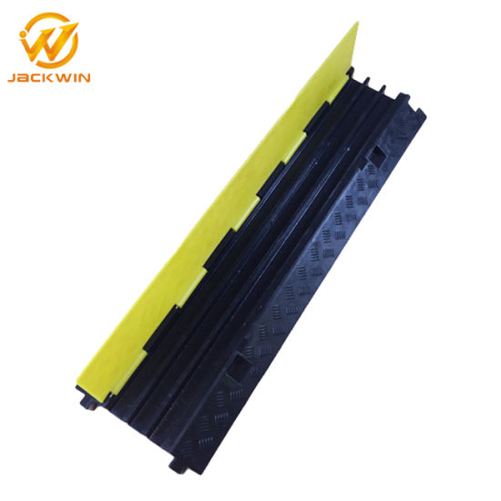 Electrical Wire Channel | China 1000mm Rubber Electrical Wire Floor 3 Channel Cable Protector