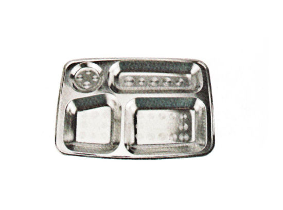Stainless Steel Kitchenware Oval Tray in Sqare Design Sp004