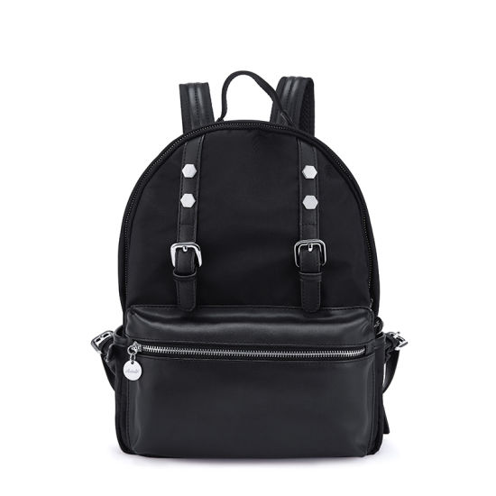 1615c79084 Large Classic Nylon Leather Girl Backpack Simple Preppy Rucksack pictures    photos