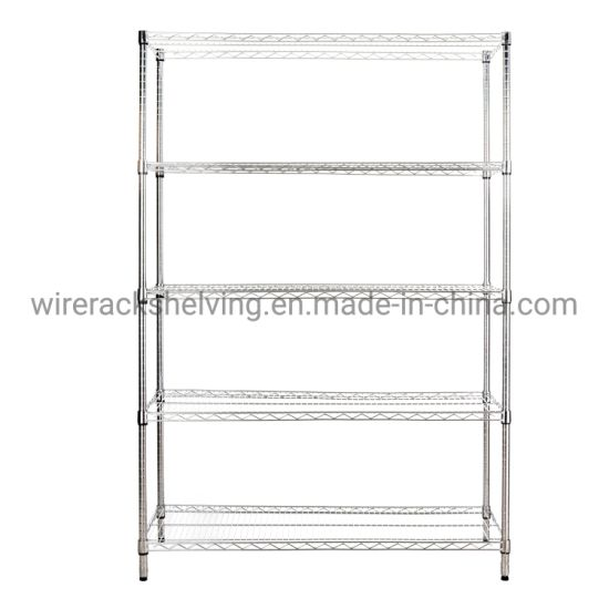 5 Tiers Chrome Plated Heavy Duty Storage Wire Shelving