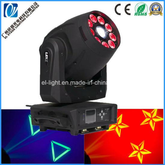 1PCS 120W White LED and 9PCS 12W RGBWA 6in1 DMX LED DJ Wash Spot 2in1 Moving Head Light