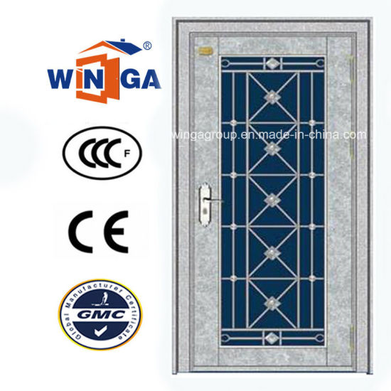 South Africa Stainless Steel Security Metal Glass Door (W-GH-24) pictures & photos