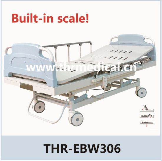 Three Functions Electric Bed with Scale (THR-EBW306) pictures & photos