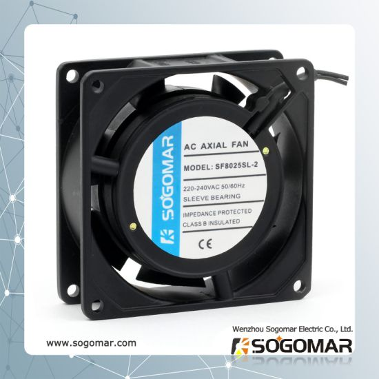 Long Life Time Cooling Fan 80X80X25mm with 100% Copper Coil