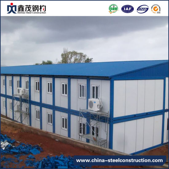 China Low Cost Steel Frame Construction Prefab Building ...