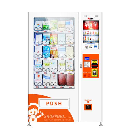 Afen Wholesale China Best Supplier Pot Noodles Food Vending Machine Socks Stationery Books Dispenser Vending Machine
