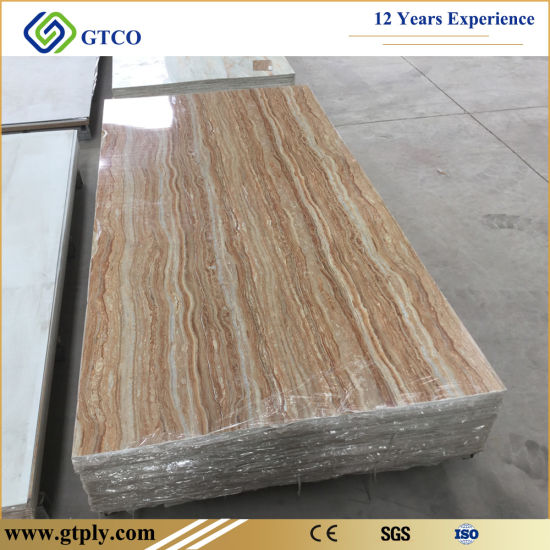 UV Marble Panel UV Coated PVC Marble Texture Sheet for Wall Panel pictures & photos