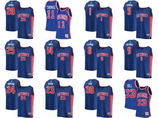 Detroit Pistons Andre Drummond Fanatics Branded Royal Icon Edition  Basketball Jerseys 544ab3d27