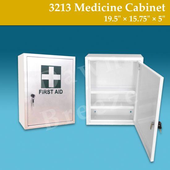 Office School Home Lockable Metal Storage Box Medicine Cabinet