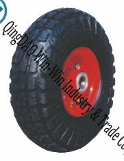 "Rubber Trolley Wheels with Metal Center (10""X4.10/3.50-4)"