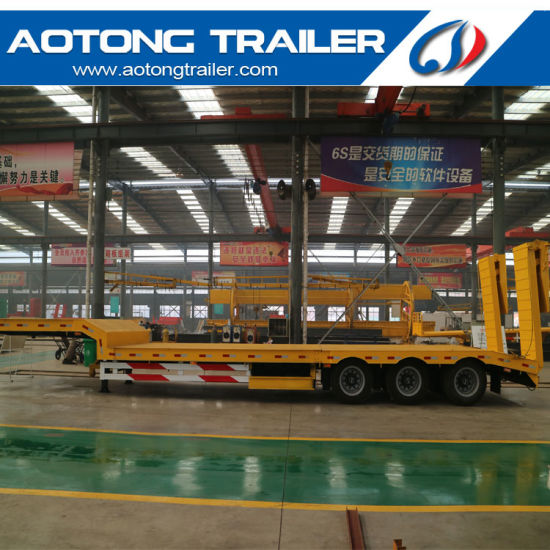 3 Axles 60 Tons Gooseneck Low Bed Trailer for Sale pictures & photos