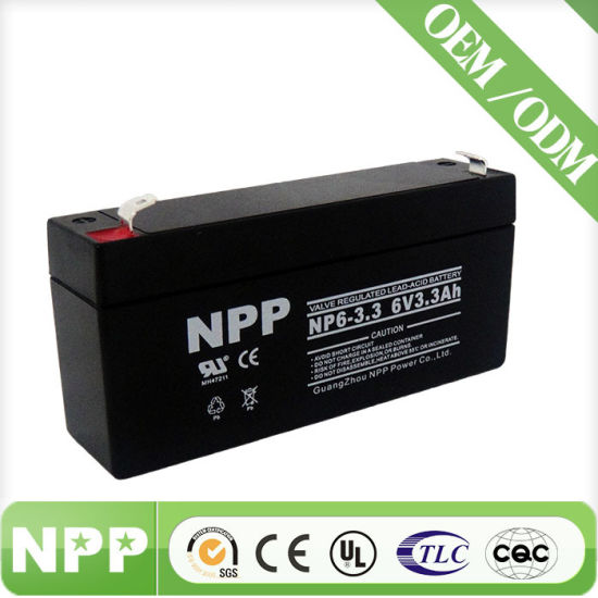 Sealed Lead Acid Electric Toy Battery (6V3.3ah)
